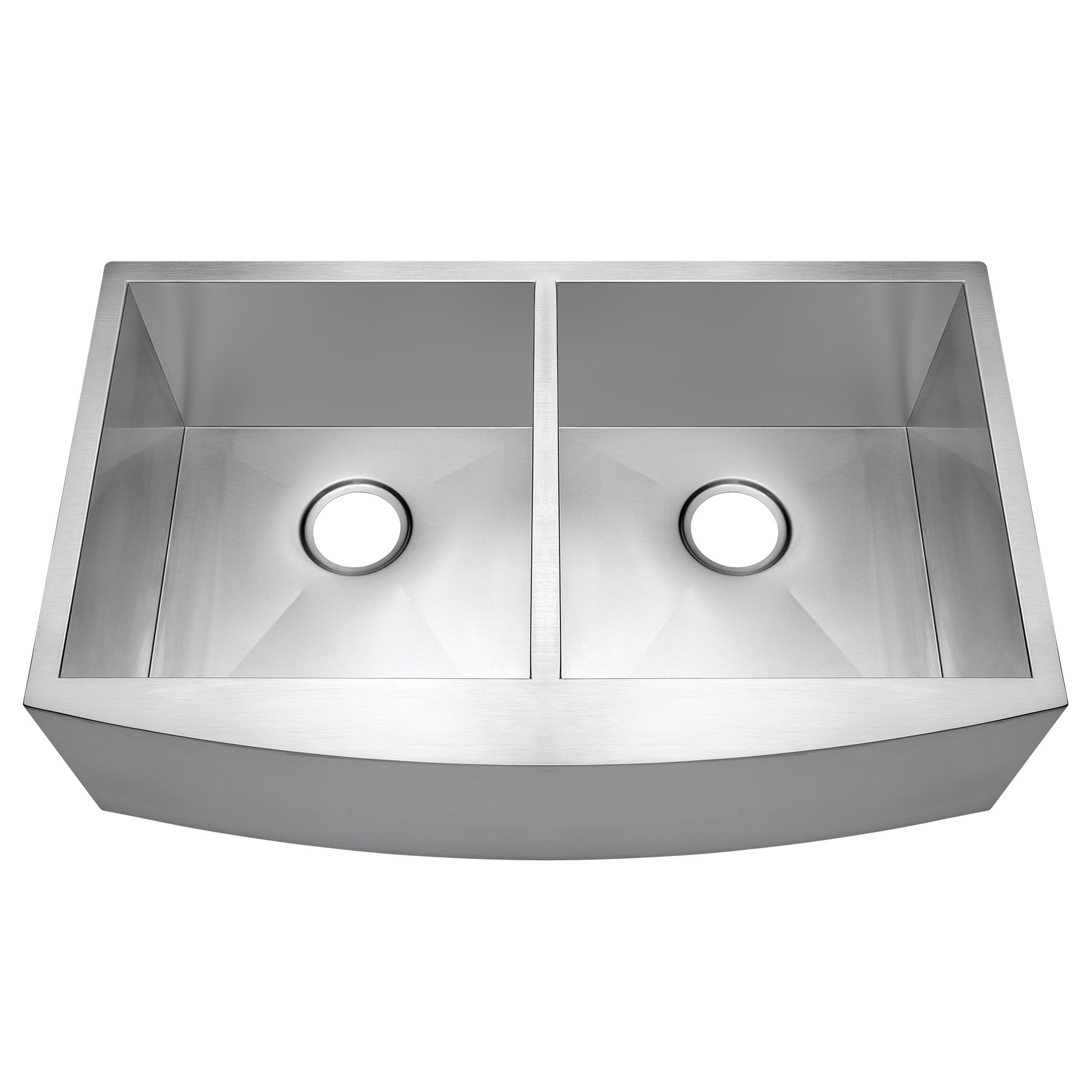 AKDY 33'' x 20'' x 9'' Undermount Apron Double Bowls Basin 18 Gauge Handmade Stainless Steel Farmhouse Kitchen Sink
