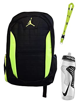 096b7d8bef9 Image Unavailable. Image not available for. Colour  Nike Air Jordan Jumpman  23 Laptop Black Volt (Neon Green) Backpack ...