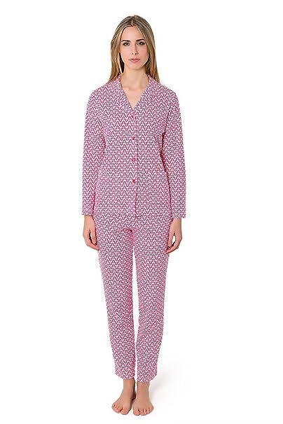 Pijama Largo Algodon Hojas