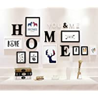 Paper Plane Design Picture Frame Set with Home Letters Wall Decoration (155 cm x 2 cm x 83 cm)