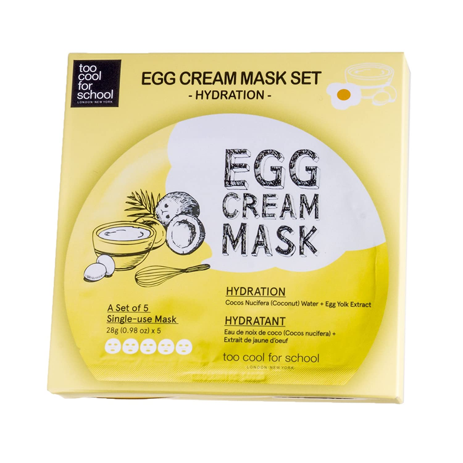 too cool for school Egg Cream Mask (5ea)/ Made in Korea by Beautyshop by Beautyshop