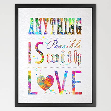 dignovel Studios Inspirational Quote acuarela Art Print ...
