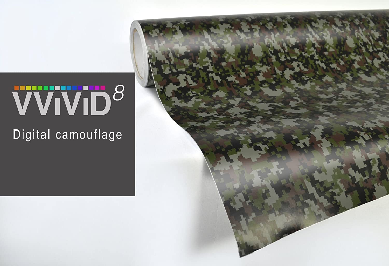 VViViD Digital Camouflage Vinyl Wrap Film for DIY No Mess Easy to Install Air-Release Adhesive (17.75 Inch x 5ft)