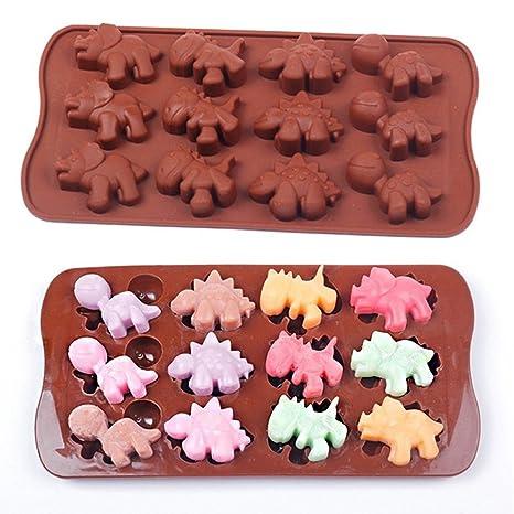 Dinosaurio Molde para horno de silicona molde Chocolate Cake Cookie Muffin Candy