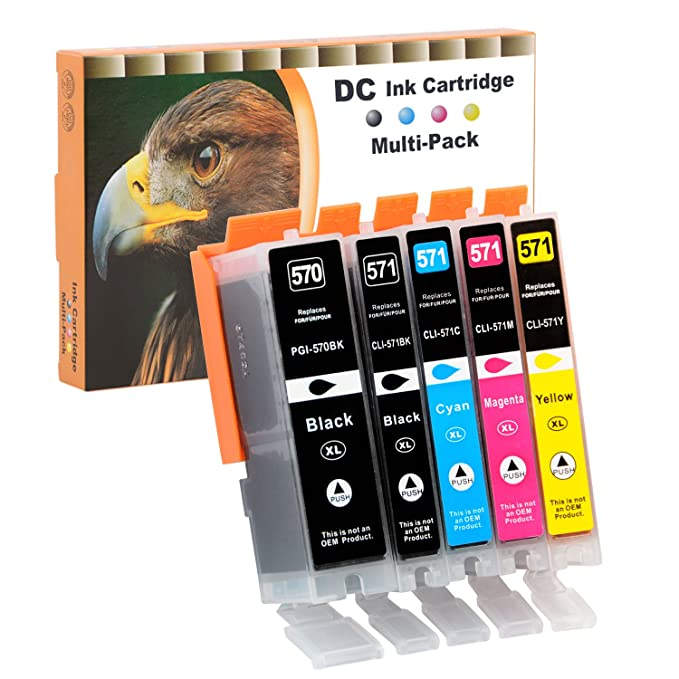 D&C 5er Set Cartuchos de impresora compatibles para Canon Pixma ...