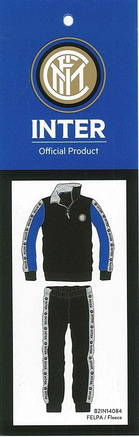 Inter Tuta//Pigiama Mezza con Zip Invernale Official Product