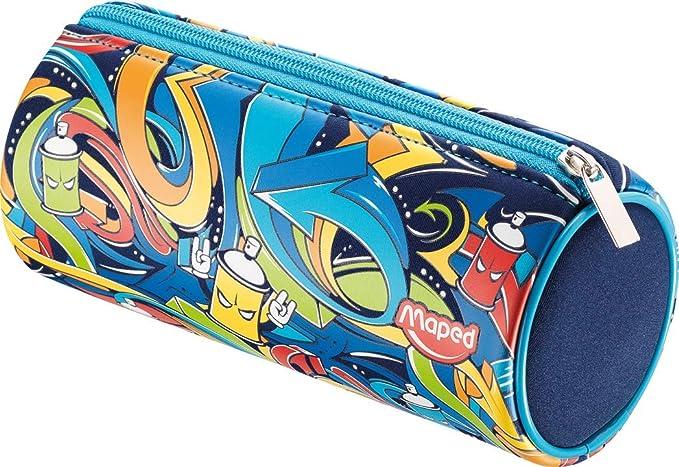 Estuche redondo Street Art MAPED 934850: Amazon.es: Oficina y papelería