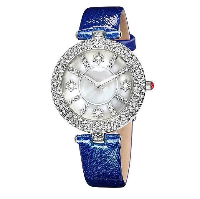 La Sra Shell Forma Afronta Llena De Relojes De Moda Del Reloj Del Diamante Reloj De