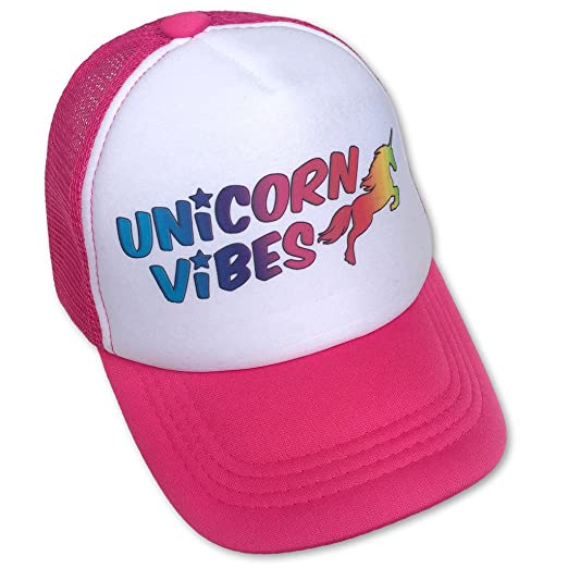 12976b7c7 Amazon.com: Sol Baby Unicorn Vibes Infant/Toddler Hot Pink Trucker ...
