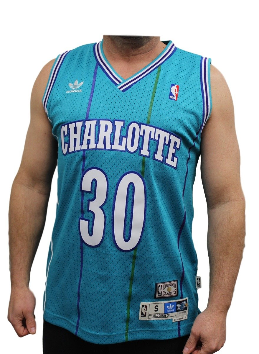 28c64e886 Dell Curry Charlotte Hornets Adidas NBA Throwback Swingman Jersey - Teal   Amazon.co.uk  Sports   Outdoors