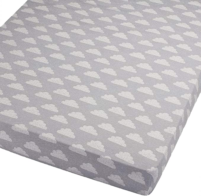 Cream Jersey Fitted Sheet Compatible with Chicco Next 2 Me 55x90cm