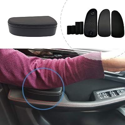 ALLUCK Breathable Soft Memory Foam Car Central and Side Adjustable Height Comfort Armrest Rest Pads (Black): Automotive