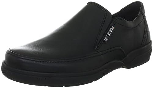 Mephisto - Zapatos de cordones de cuero para mujer, color negro, talla 42