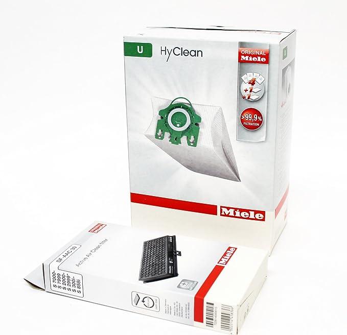 Genuine Miele HyClean S7000-S7999 U Type Vacuum Cleaner Bag /& Filter Pack