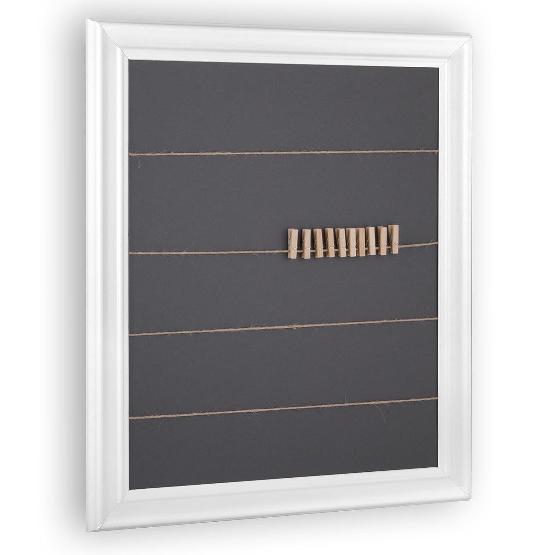Schnurrahmen für Fotos, Bilder - Fotowand inkl. 20 Klammern und Schnur (