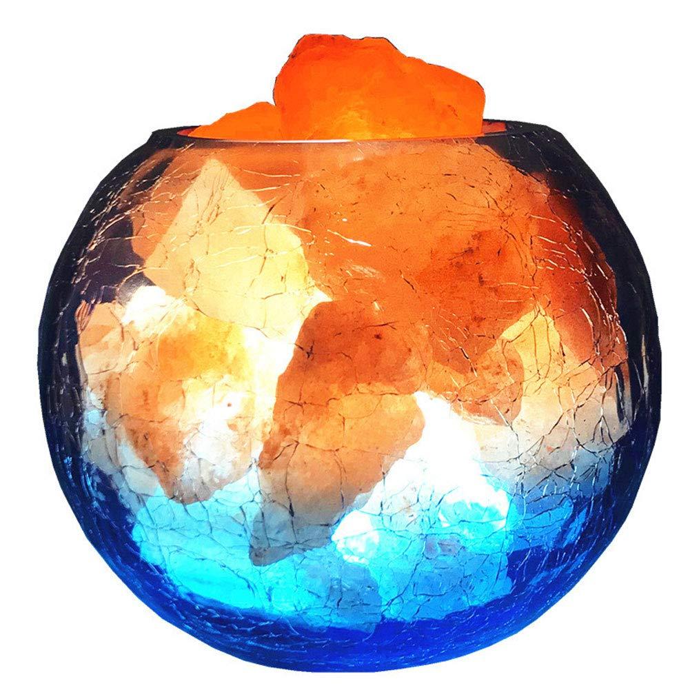 NA. Kristallsalz-Lampe Naturaldalz Himalaya Negativion Feng Shui kreative Dimming-Nacht Licht Schlafzimmer dekorative Lichter