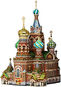 """UMBUM Innovative 3D Puzzle - Church of The Savior on Blood, St. Petersburg, Russia - 13¾"""" x 16½"""" x 10¼"""" 181 pcs Scale 1:200 - Clever Paper (110)"""