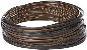 windaze 230FT Brown Wicker Repair Material, Synthetic Rattan Furniture Repair Kit, Plastic PE Rattan for Knit and Repair