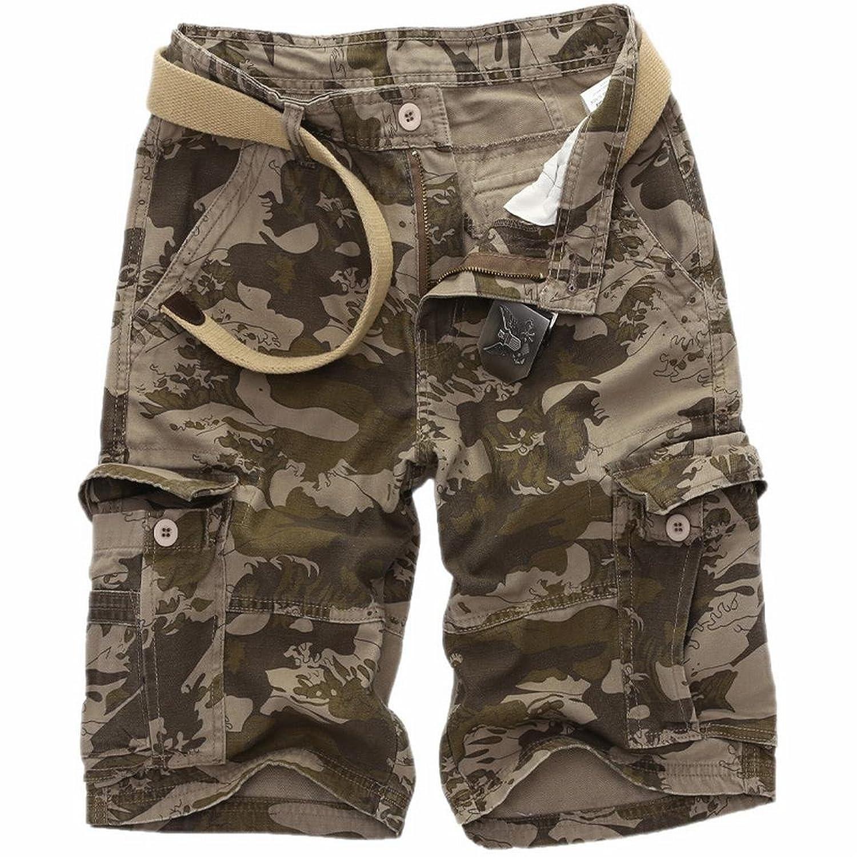 e11e08b979 durable modeling NQ Men Multi Pocket Beach Fit Summer Camo Cargo Shorts