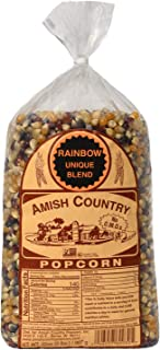 product image for Amish Country Popcorn | 2 lb Bag | Rainbow Popcorn Kernels | Old Fashioned with Recipe Guide (Rainbow - 2 lb Bag)