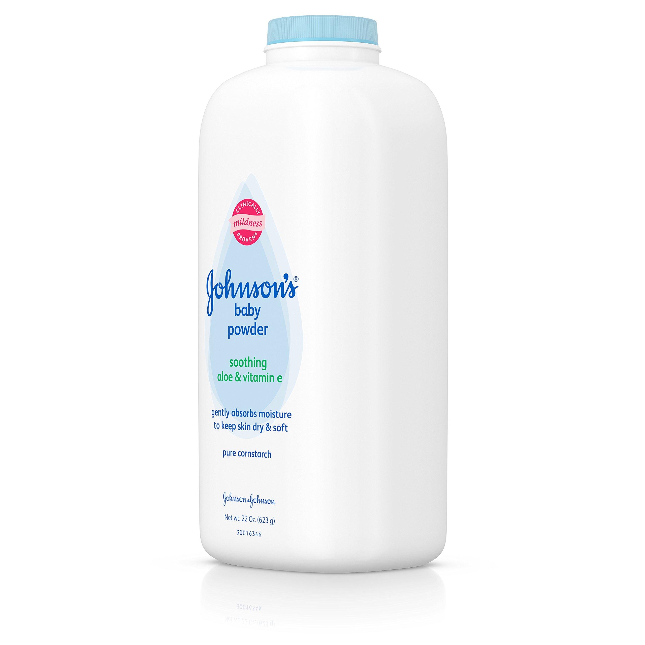 Johnson's Baby Powder With Aloe Vera & Vitamin E, Diaper Rash Protection, 22 Oz. (Pack of 6) by Johnson's Baby (Image #9)