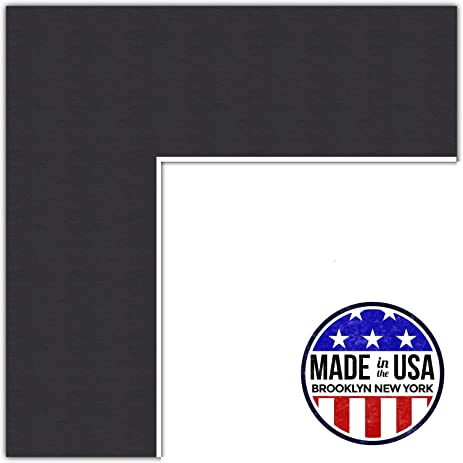 Amazon.com: 20x30 Smooth Black / Black Custom Mat for Picture Frame ...