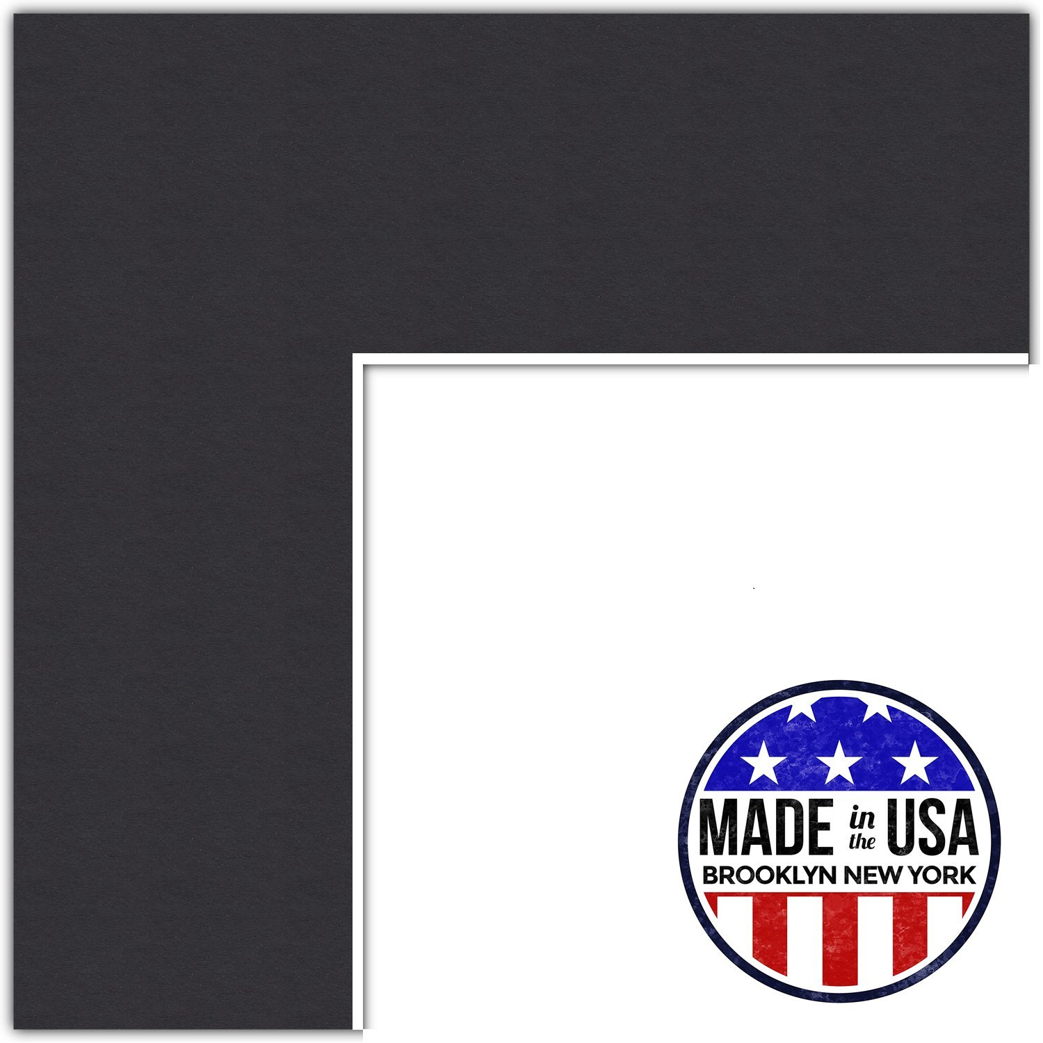 22x28 Smooth Black/Black Custom Mat for Picture Frame with 18x24 opening size (Mat Only, Frame NOT Included)