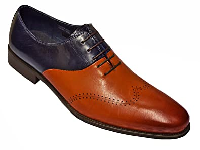 Men's Genuine Calfskin Leather Italian Design Italy Oxford Lace Up Shoes KS099-603T