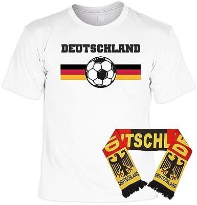 Cooles Fussball Fan Set Deutschland T-Shirt + Schal : Deutschland --  Fanpaket EM