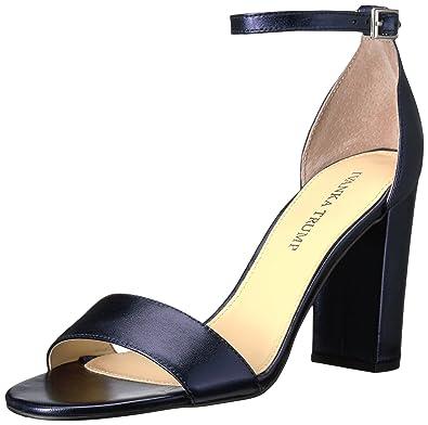 Ivanka Trump Women's Klover Heeled Sandal, Dark Blue, 10 Medium US