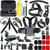 Soft Digits Accessories Bundle Kit Kompatibel för Gopro, En Storlek, Svart
