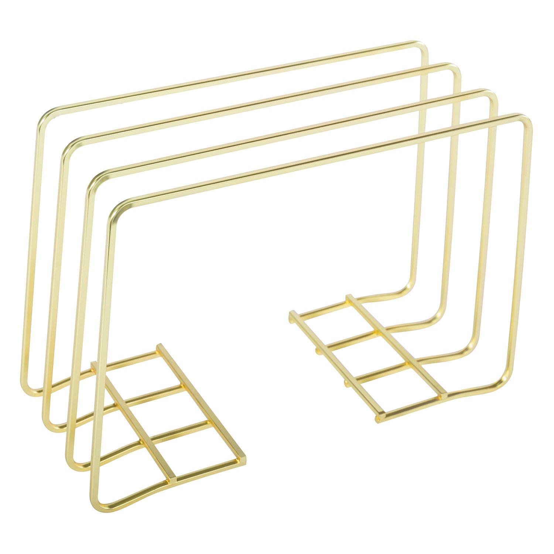 DESIGNA Multi Step File Organizer, Metal File Holder, Gold