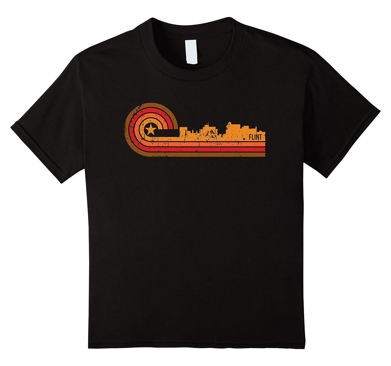Retro Style Michigan Skyline T Shirt-Awarplus