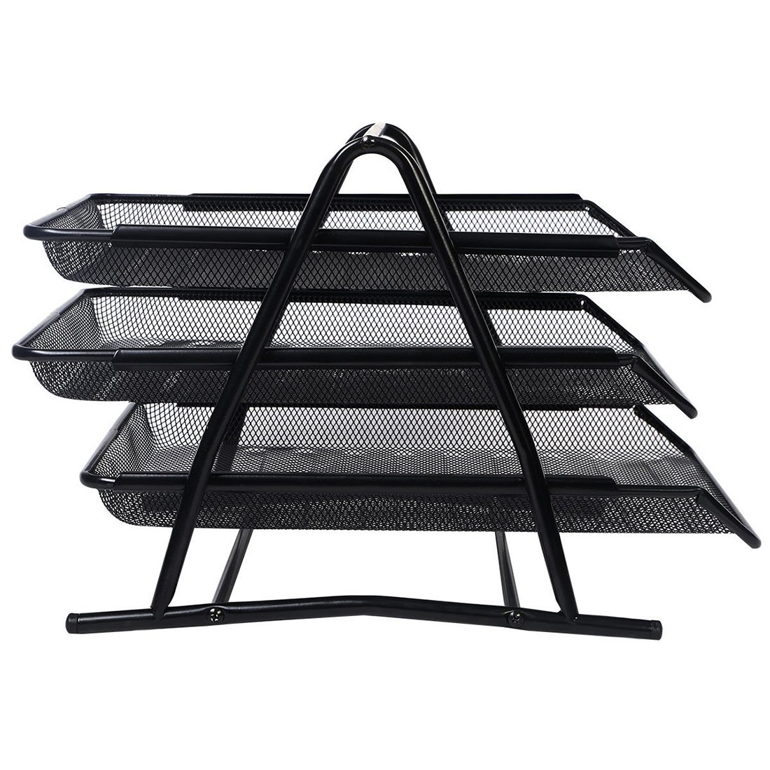 KathShop Metal Document Trays A4 Paper Office Mesh Document File Paper Letter Tray Organiser Holder