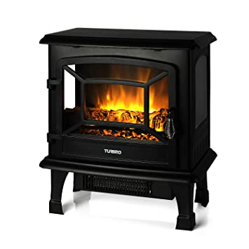 TURBRO Suburbs TS20 Electric Fireplace Heater, Freestanding Fireplace Stove with Realistic Flame Effect - CSA Certified - Overheating Safety ...