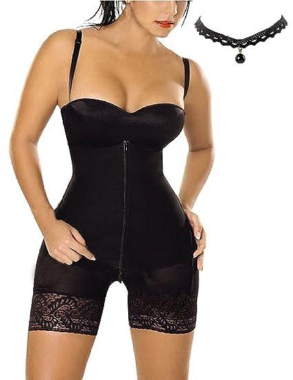 M-Queen Femmes Lingerie Sculptante Combinaisons Corset Panty Serres-taille  Bustier Minceur Shapewear Ceinture 42e9eef0952