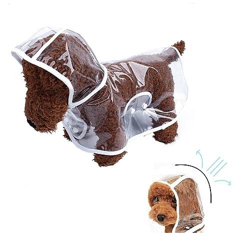 ba687a0879 X-Cool trasparente impermeabile impermeabile antipioggia animali vestiti  Poncho impermeabile per cani/gatti piccoli