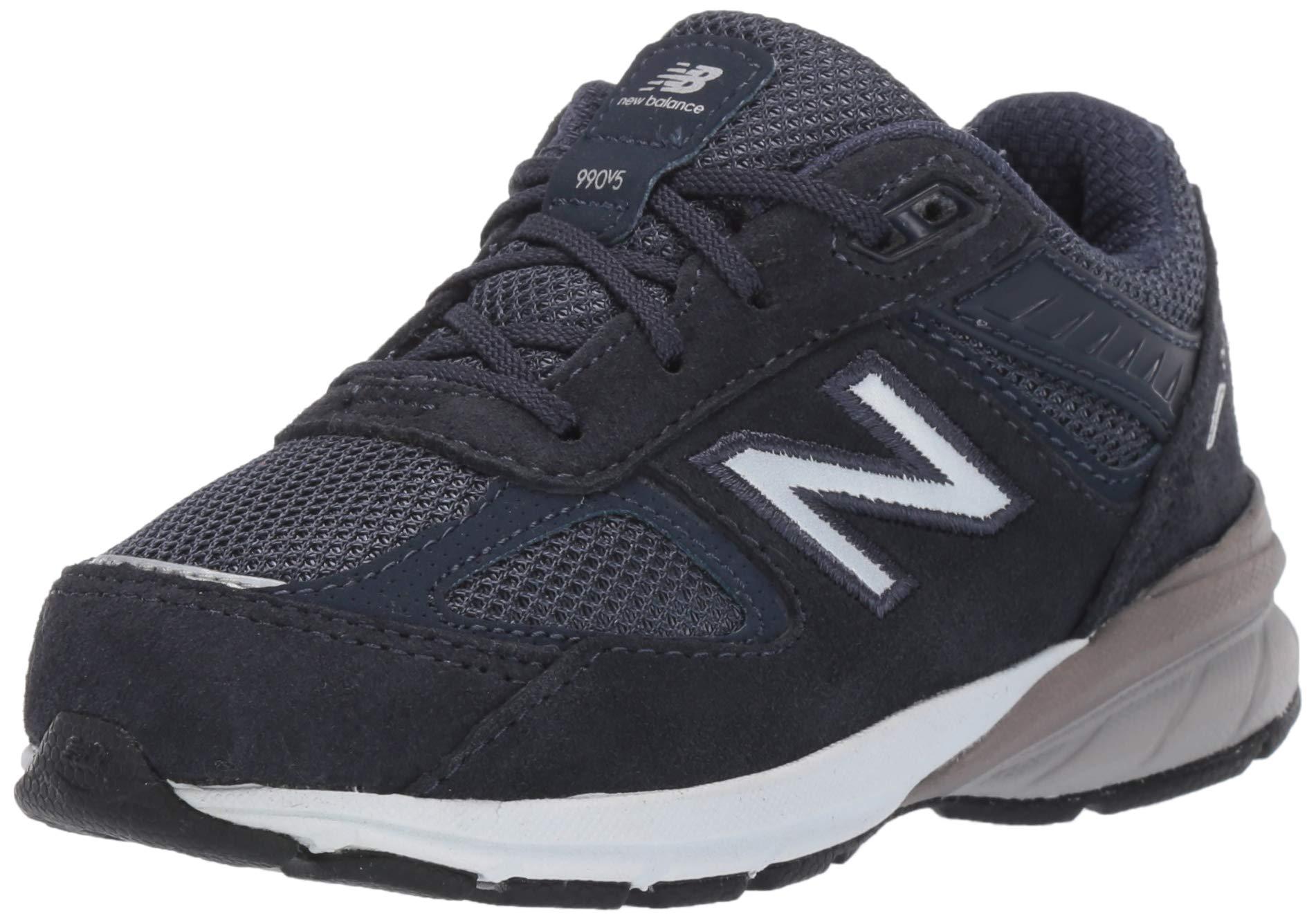New Balance Boys' 990v5 Running Shoe, Navy, 6.5 M US Big Kid