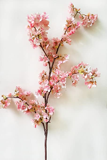 Amazon um2 39 inch romantic artificial branches of peach um2 39 inch romantic artificial branches of peach cherry blossom silk flowers home wedding decoration flower mightylinksfo