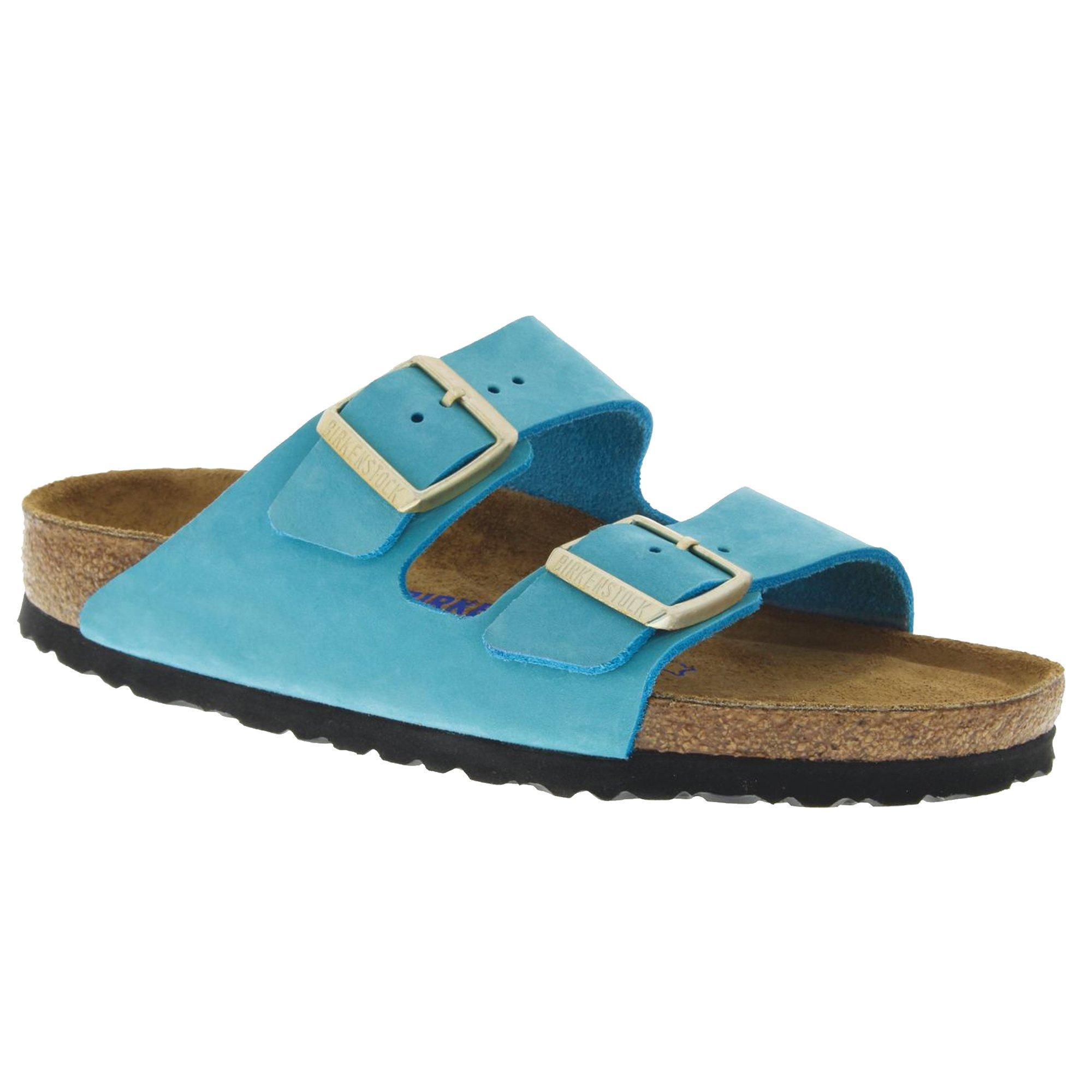 Birkenstock Arizona Soft Footbed Turquoise Nubuck Sandal 40 (US Women's 9-9.5)
