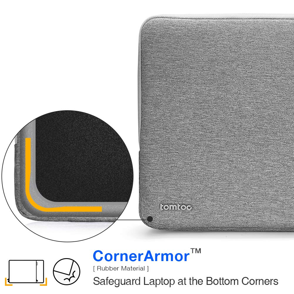 tomtoc 360° Protective Laptop Sleeve Compatible with13 inch New MacBook Pro A1989 A1706 A1708 USB-C | Dell XPS 13, Notebook Bag Case 13'' with Accessory Pocket & CornerArmor Patent by tomtoc (Image #2)