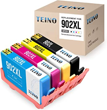 4 PK High Capacity 902XL 902 L Ink Set Combo for HP Officejet Pro 6979 6954 6968