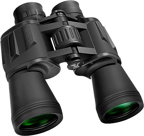 GLANDU 10 x 50 Binoculars BAK-4 Porro Prism FMC for Adults Professional High Magnification HD Waterproof Abrasion Rubber Binoculars for Bird Watching Travel Sightseeing Hunting Wildlife and Concerts