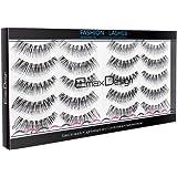 EmaxDesign 10 paires de Faux Cils, Multipack Natural 3D Cils Faux - Eyelashes Mode Extension Pour Maquillage