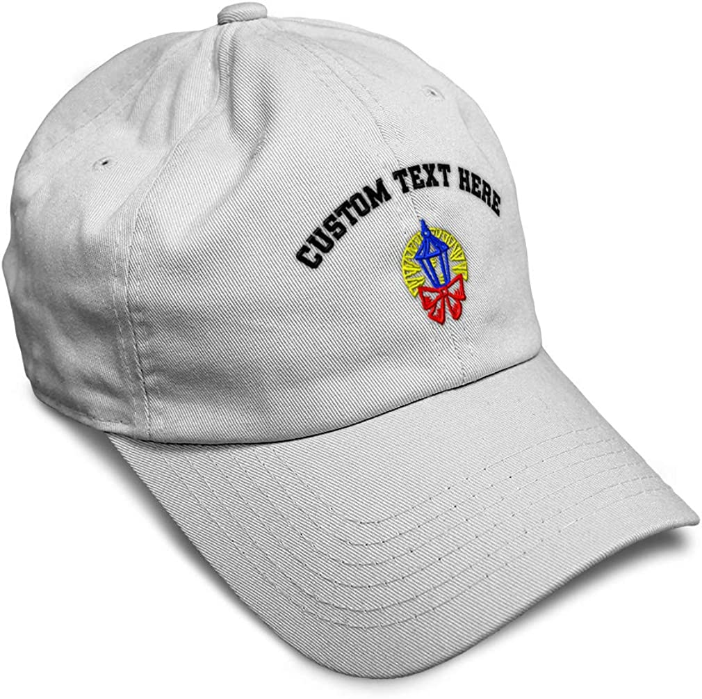Custom Soft Baseball Cap Christmas Streetlight Embroidery Twill Cotton