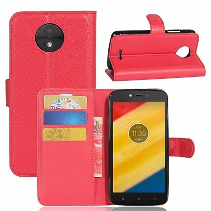 Nadakin Motorola Moto C Plus Calidad Premium Cartera de Cuero con Carcasa de Teléfono Flip Funda con Soporte Magnetico de Cierre para Motorola Moto C ...