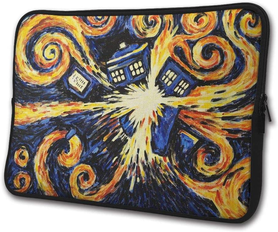 Van Gogh's Exploding Tardis Laptop Bag Compatible 13/15 Inch Computer Case for Laptop Water-Resistance Neoprene Laptop Case Bag Notebook Bag