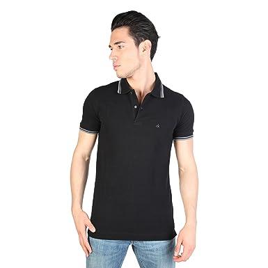 Polo Uomo Calvin Klein KMP25A_990_BLACK Nero: Amazon.es: Ropa y ...