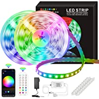 LED Strip Lights, 50ft/15M 5050 RGB 270 LEDs Strip Lights Non-Waterproof Rope Music Sync DIY Colors Changing Timing with…