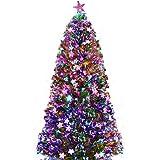 2.1m(7ft) Christmas Tree with LED Star and Optic Fiber Light